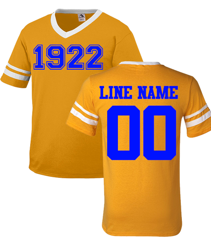 Sigma Gamma Rho Custom Crossing Jersey - Letters Greek Apparel - Black Greek Paraphernalia - Divine Nine Greek Apparel