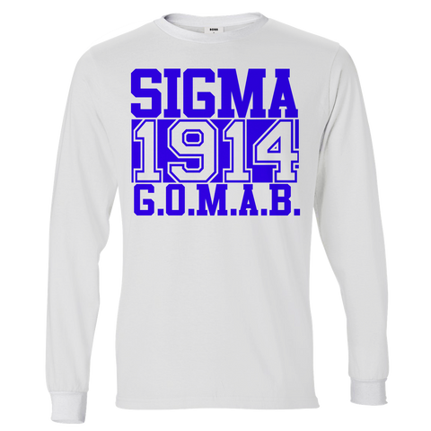 Phi Beta Sigma Chant Long Sleeve T-Shirt - Letters Greek Apparel - Black Greek Paraphernalia
