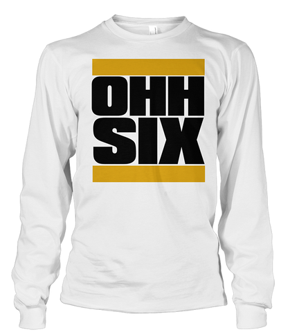 Alpha Phi Alpha OHH SIX Long Sleeve Shirt - Letters Greek Apparel - Black Greek Paraphernalia