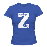 Zeta Phi Beta Letterman Tee - Blue - Letters Greek Apparel - Black Greek Paraphernalia