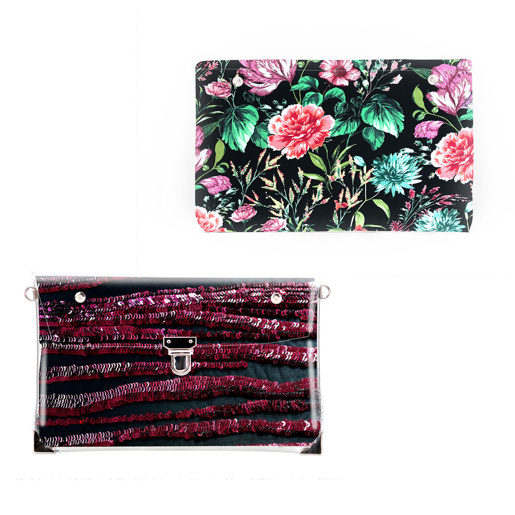 1 x Clutch + 1 x Extra Fabric Insert (Red Hot + Summer Night)