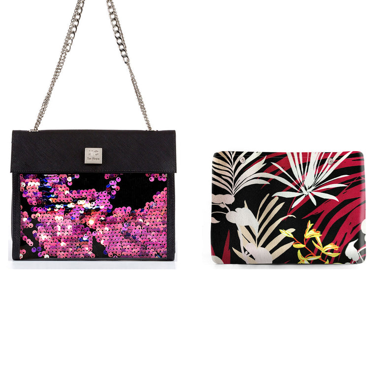 1 x Shoulder Bag + 1 x Extra Fabric Insert (Fireworks + Pink Jungle)