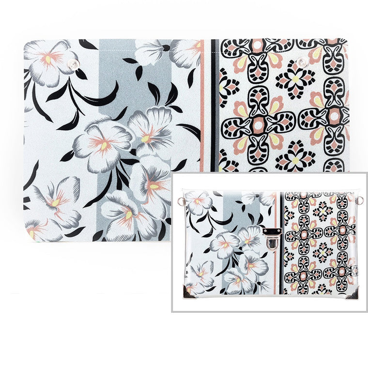 White Flowers LA - Fabric Only (Clutch)