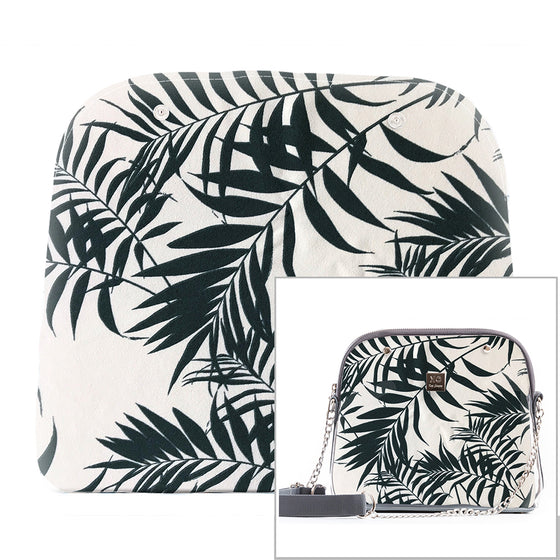 White Tropical - Fabric Only (Crossbody Bag)