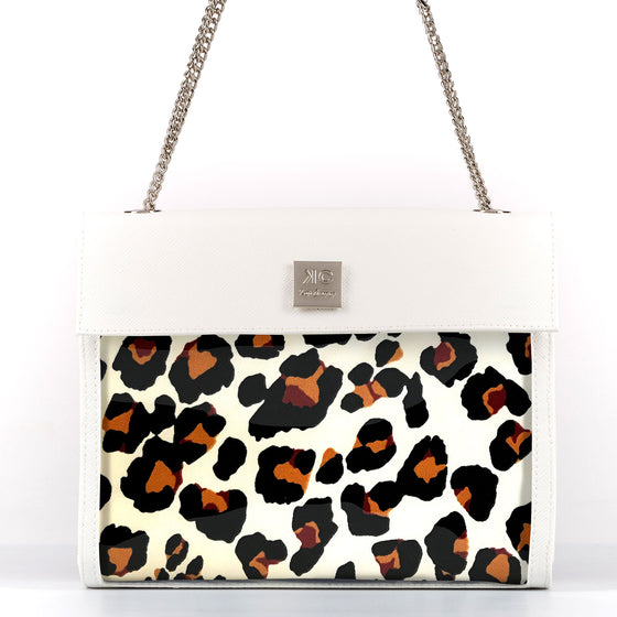 Leopard - Shoulder Bag - White