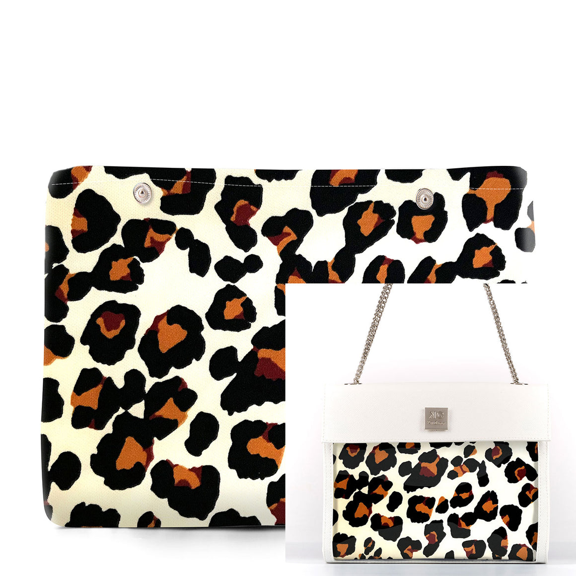 Leopard - Fabric Insert (Shoulder Bag)