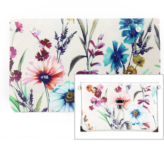 Flowers - Fabric Insert (Clutch)