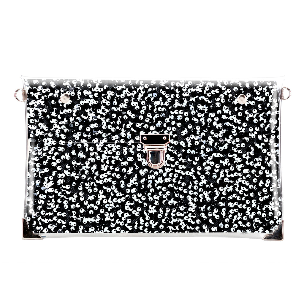 B&W Sequins Mix - clutch
