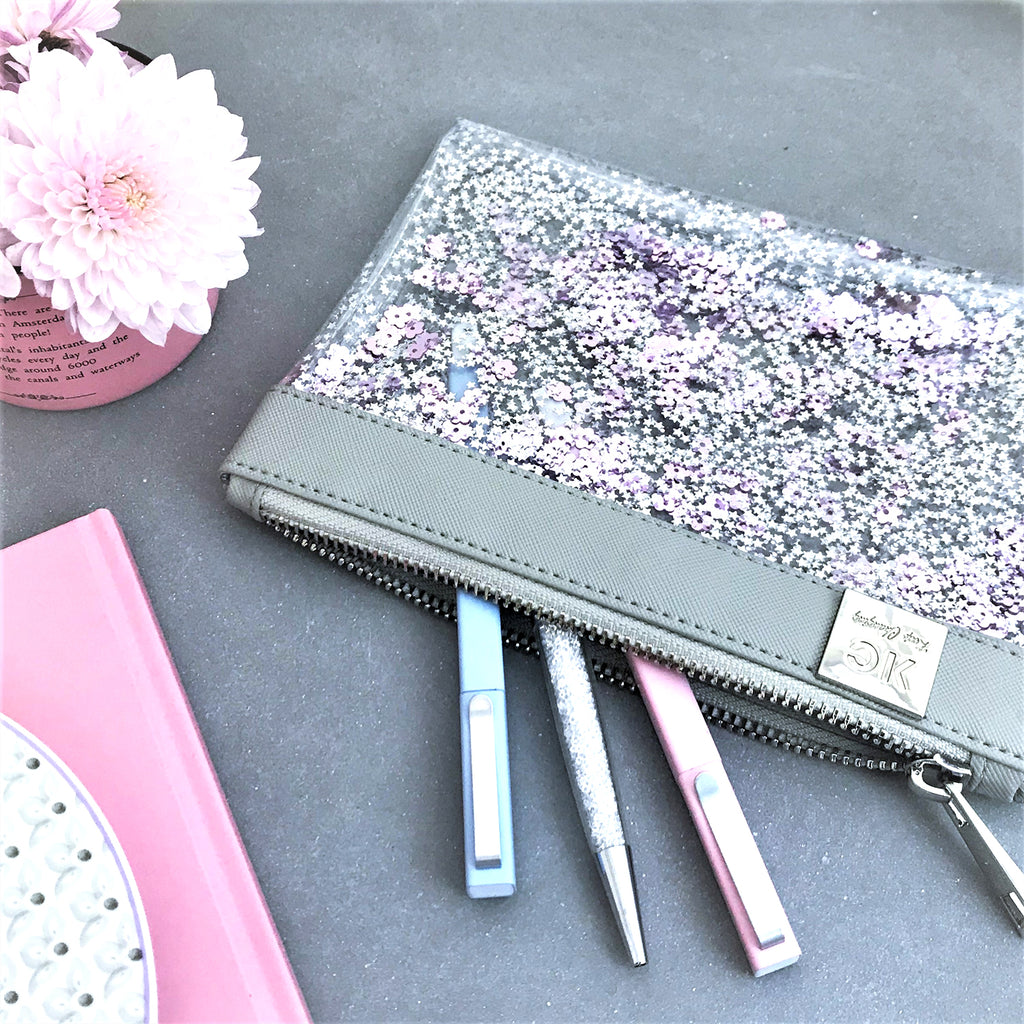 Glitter case - Purple Rose
