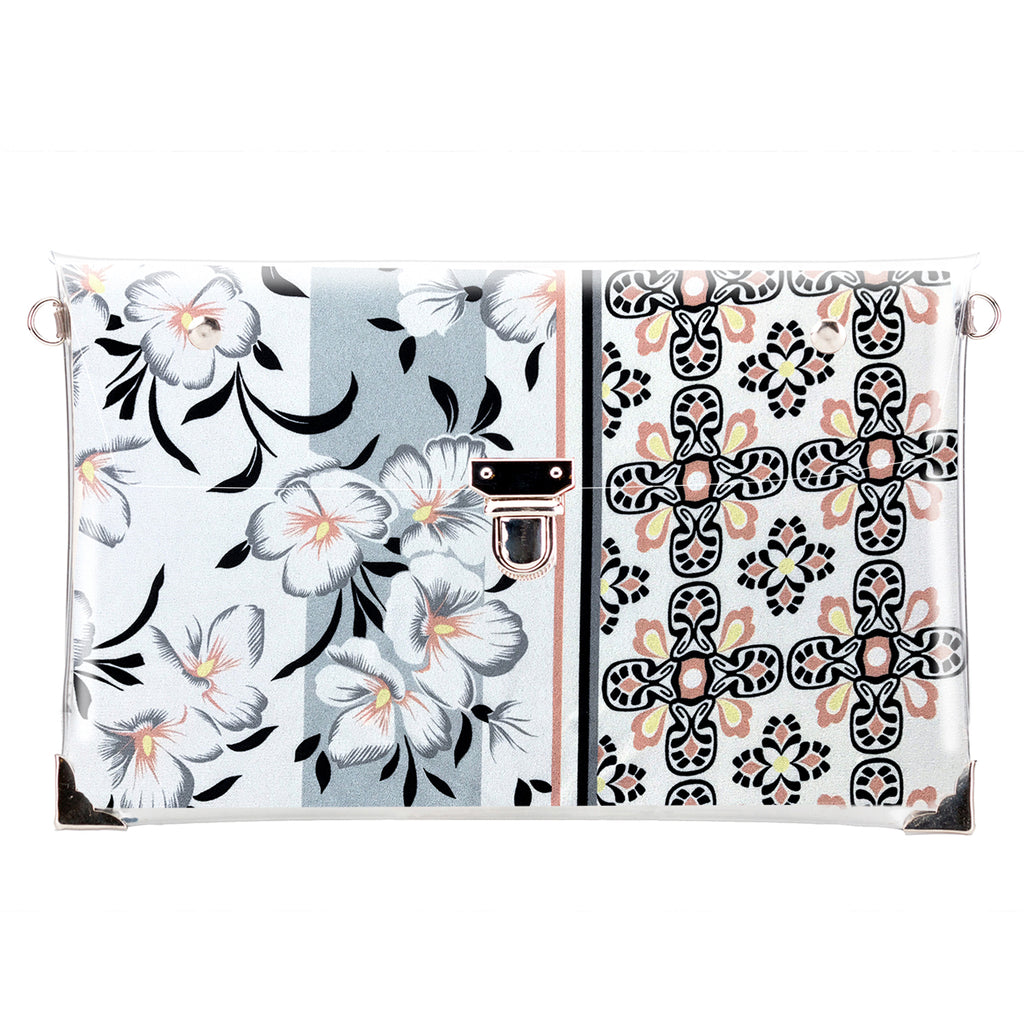 White flowers LA - clutch