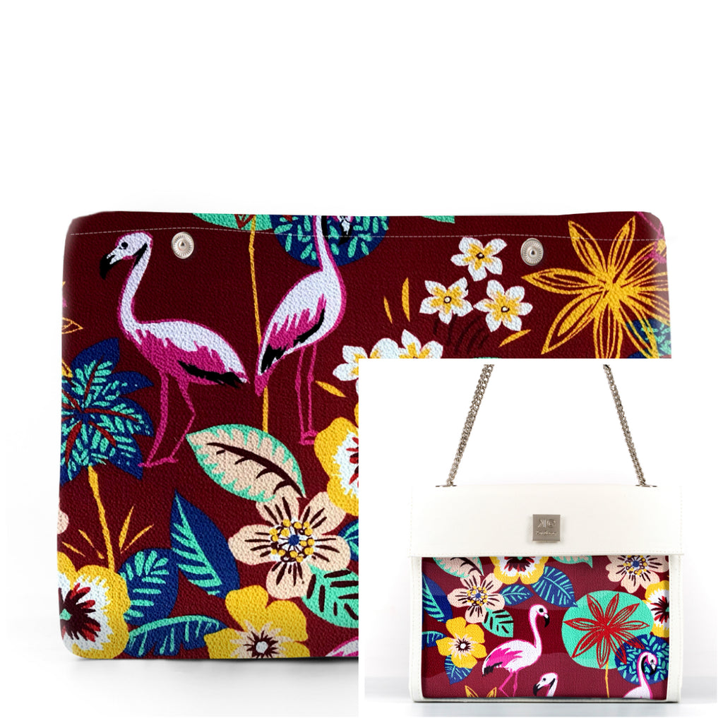 Flamingo - Fabric Insert (Shoulder Bag)