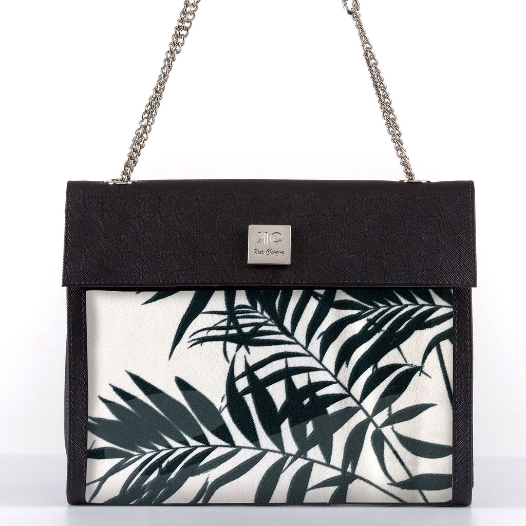 White Tropical - Shoulder Bag - Black