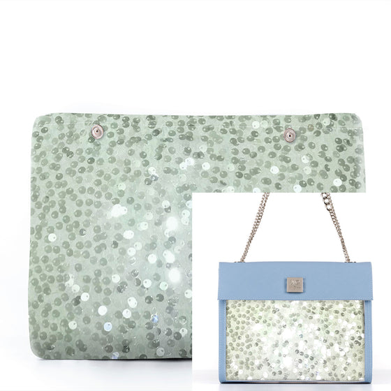 Light Green Rain - Fabric Insert (Shoulder Bag)