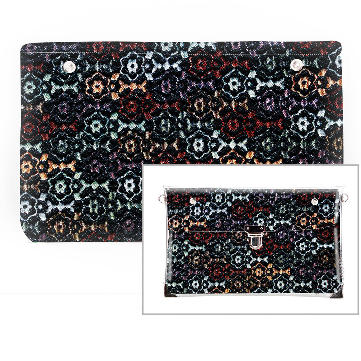 Urban Floral - Fabric Insert (Clutch)