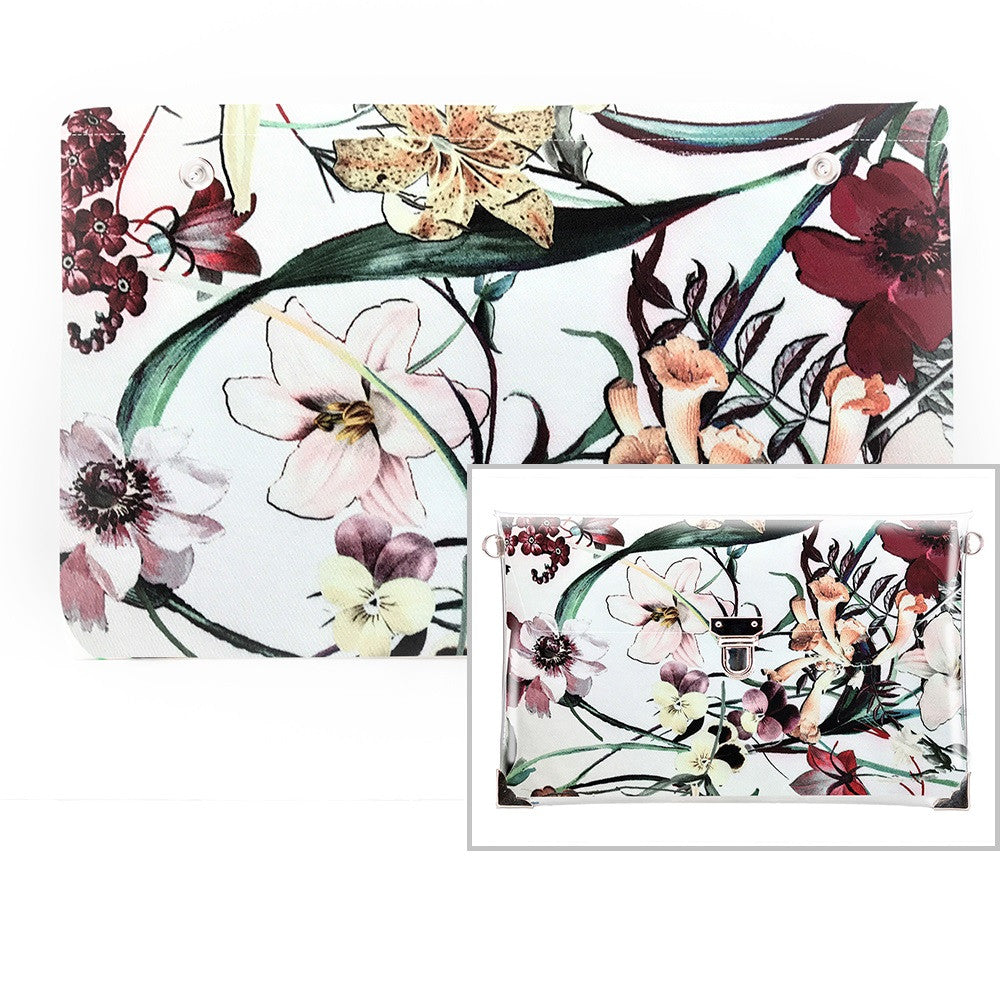 Garden Flowers - Fabric Only (Clutch)