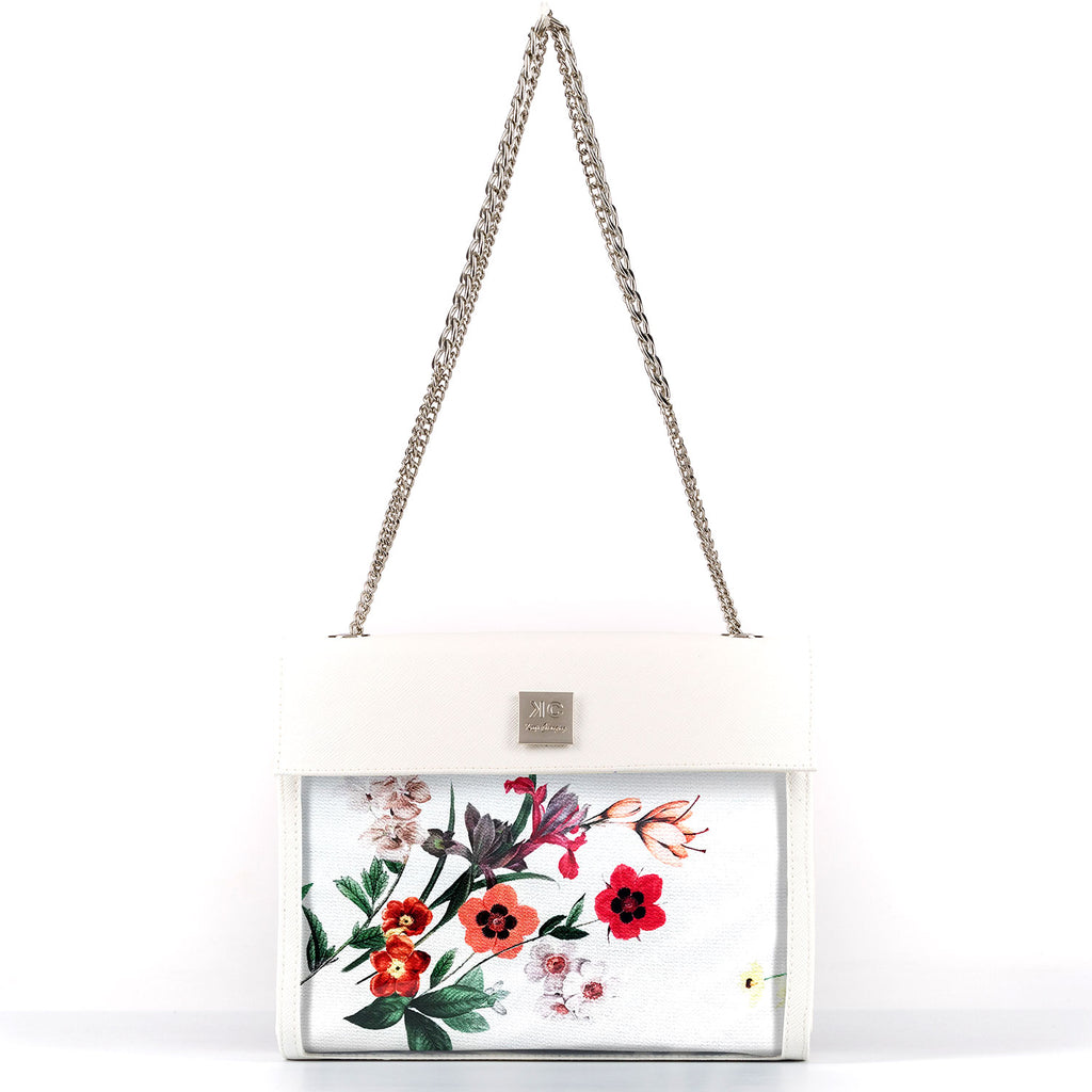 Holiday Red - Shoulder Bag - White
