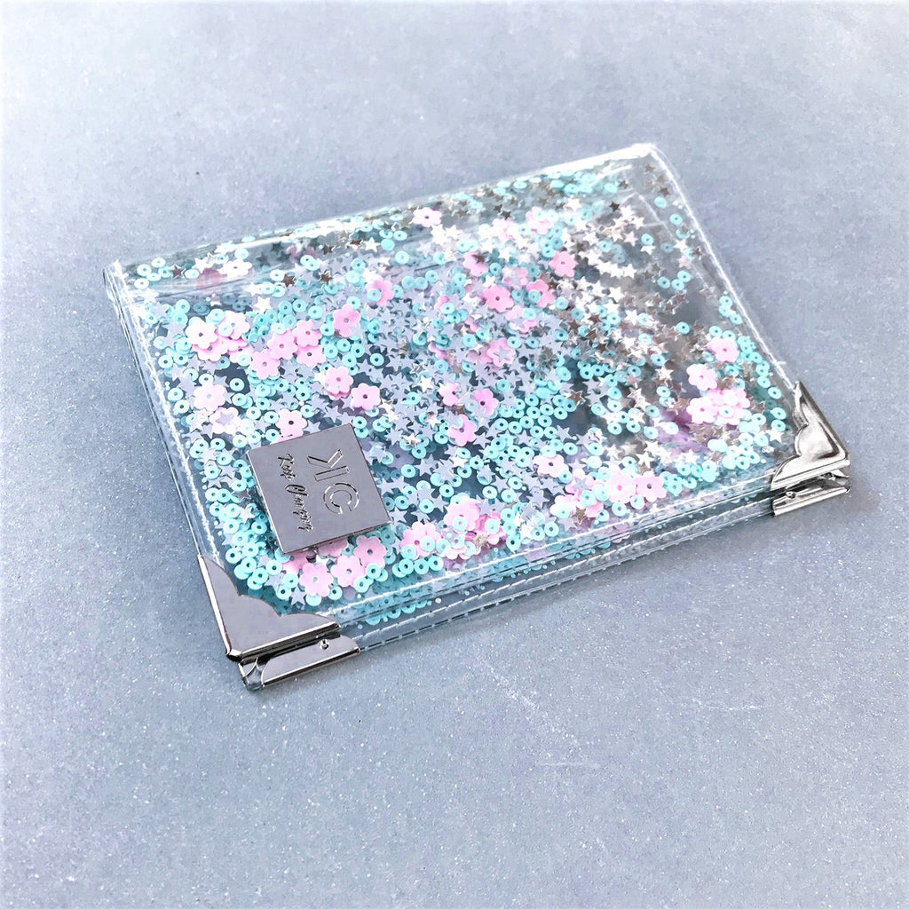 Sequins Passport Cover - Pastel