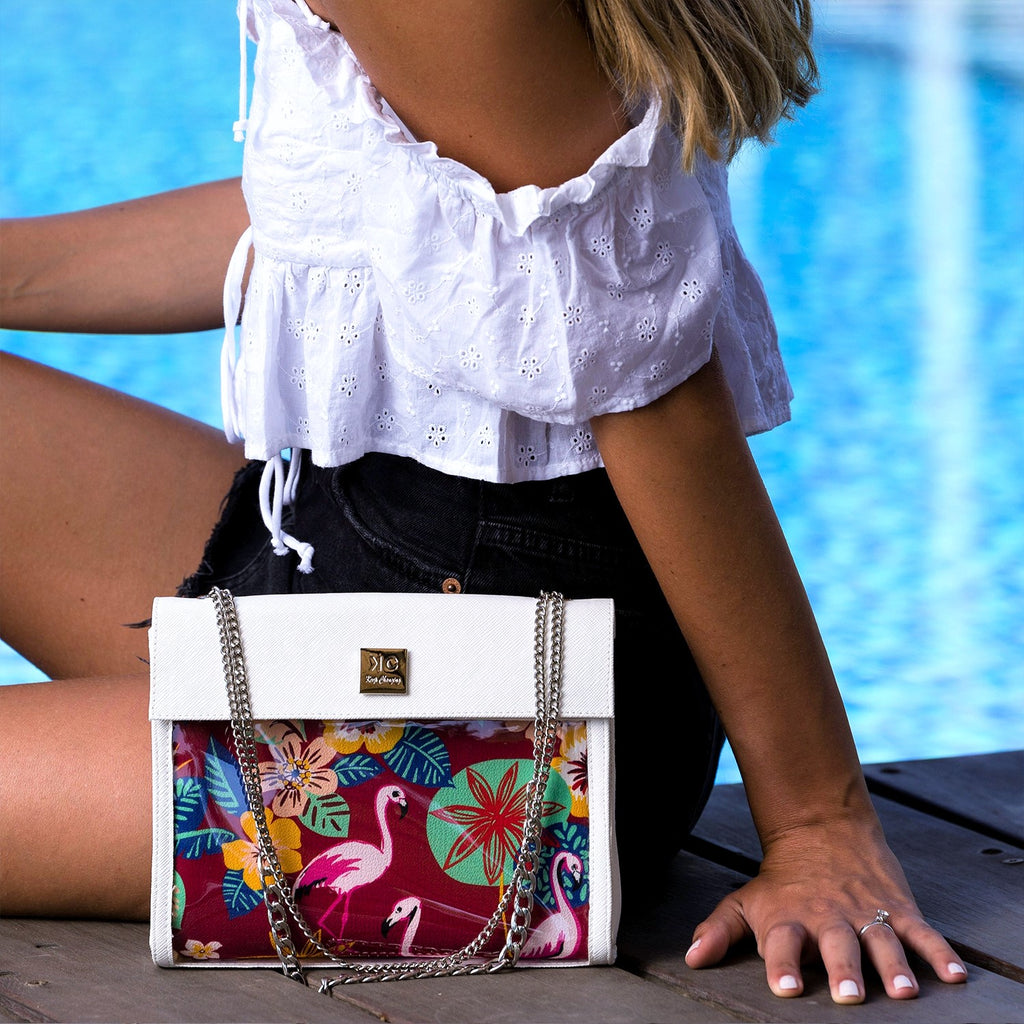 Flamingo - Shoulder Bag - White