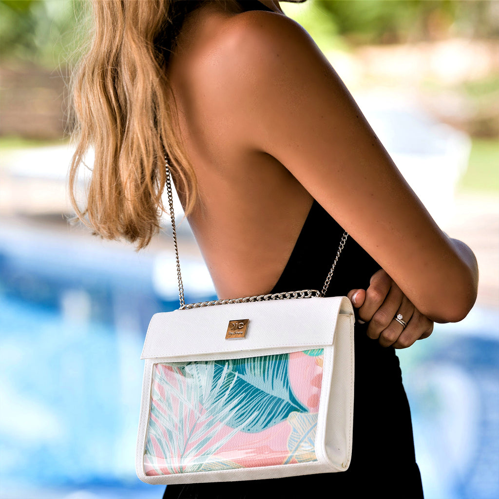 Tropical - Shoulder Bag - White