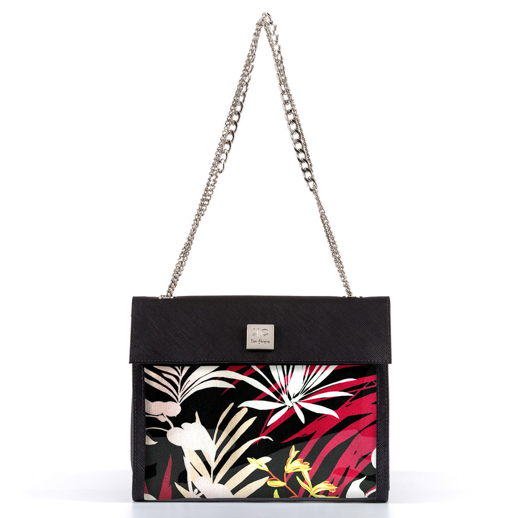Pink Jungle - Shoulder Bag - Black