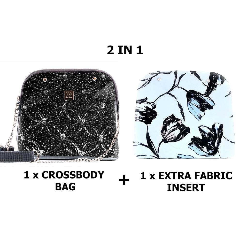 1 x Crossbody bag + 1 x Extra Fabric Insert (Nicole + Paris)