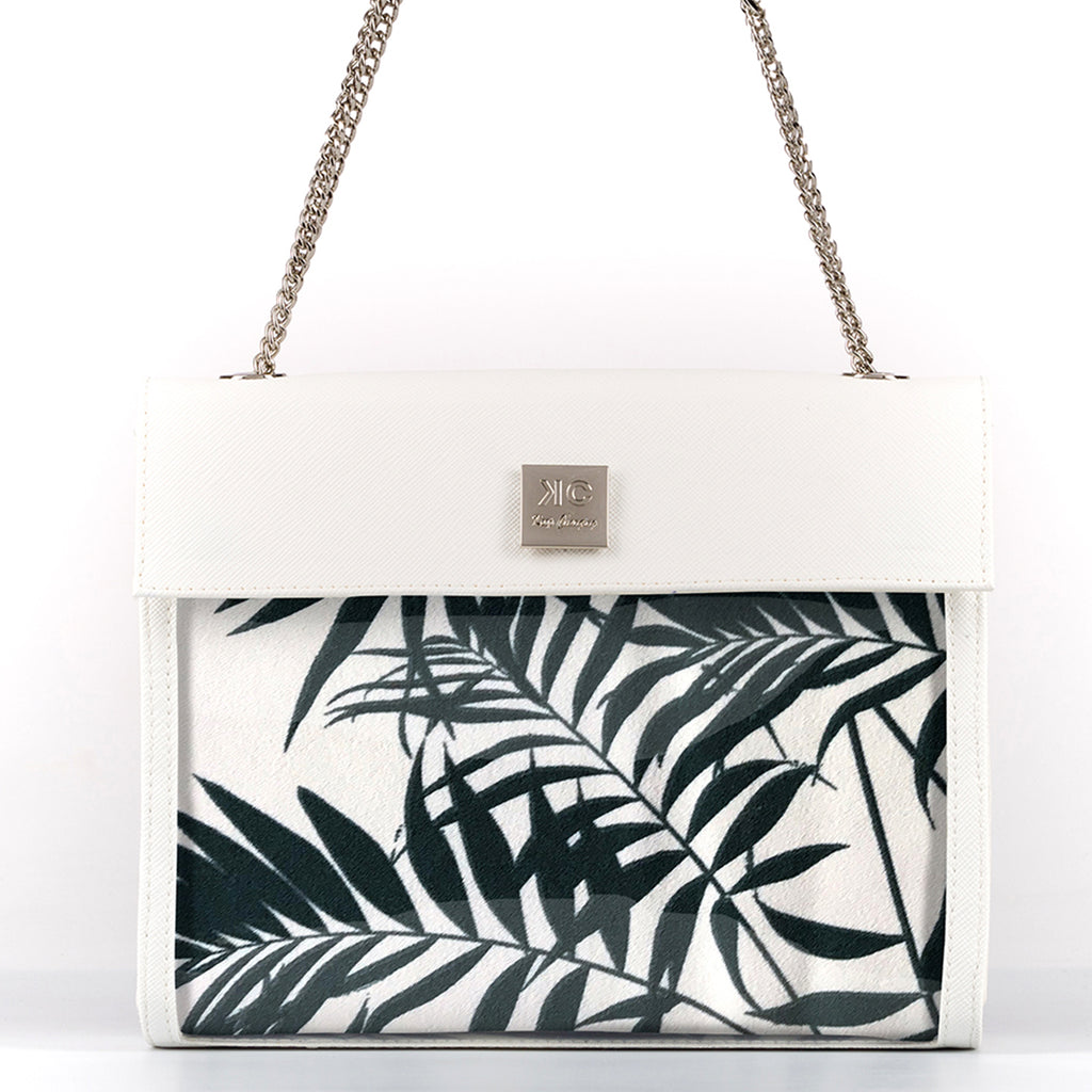 White Tropical - Fabric Insert (Shoulder Bag)