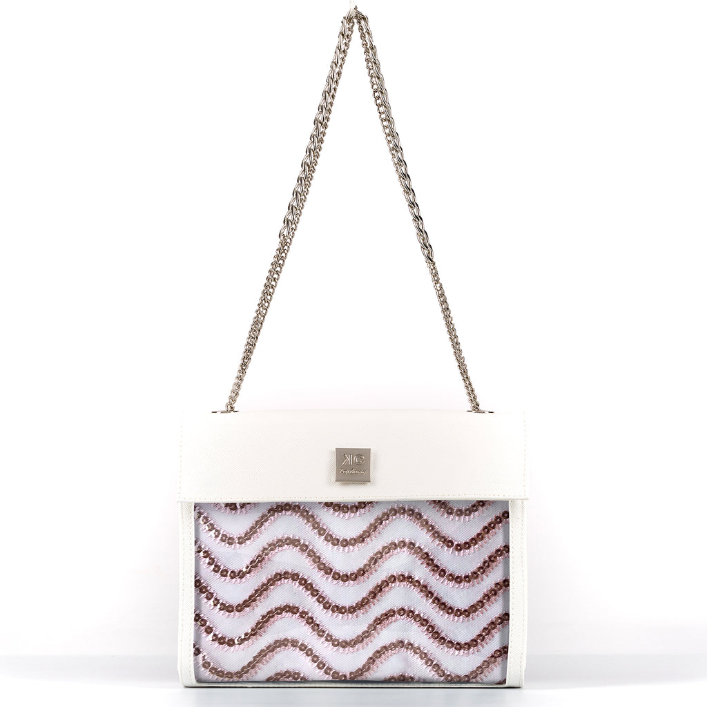 Rose - Shoulder Bag - White