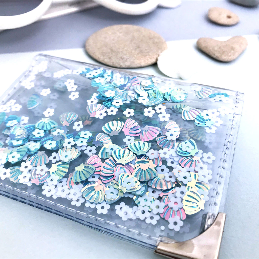 Mini Card Holder - Blue Shell