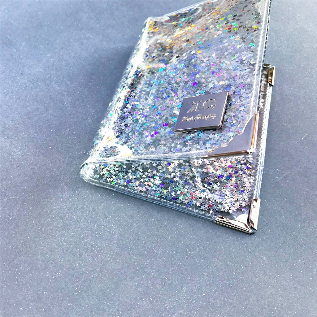 Sequins Passport Cover - Mini Stars