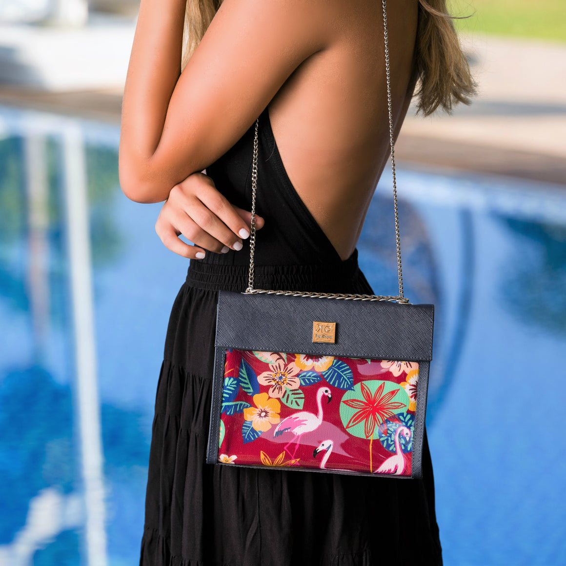 Flamingo - Shoulder Bag - Dark Blue