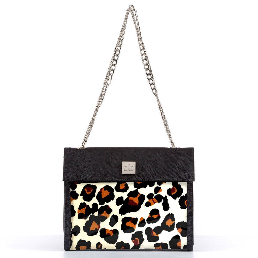 Leopard - Shoulder Bag - Black