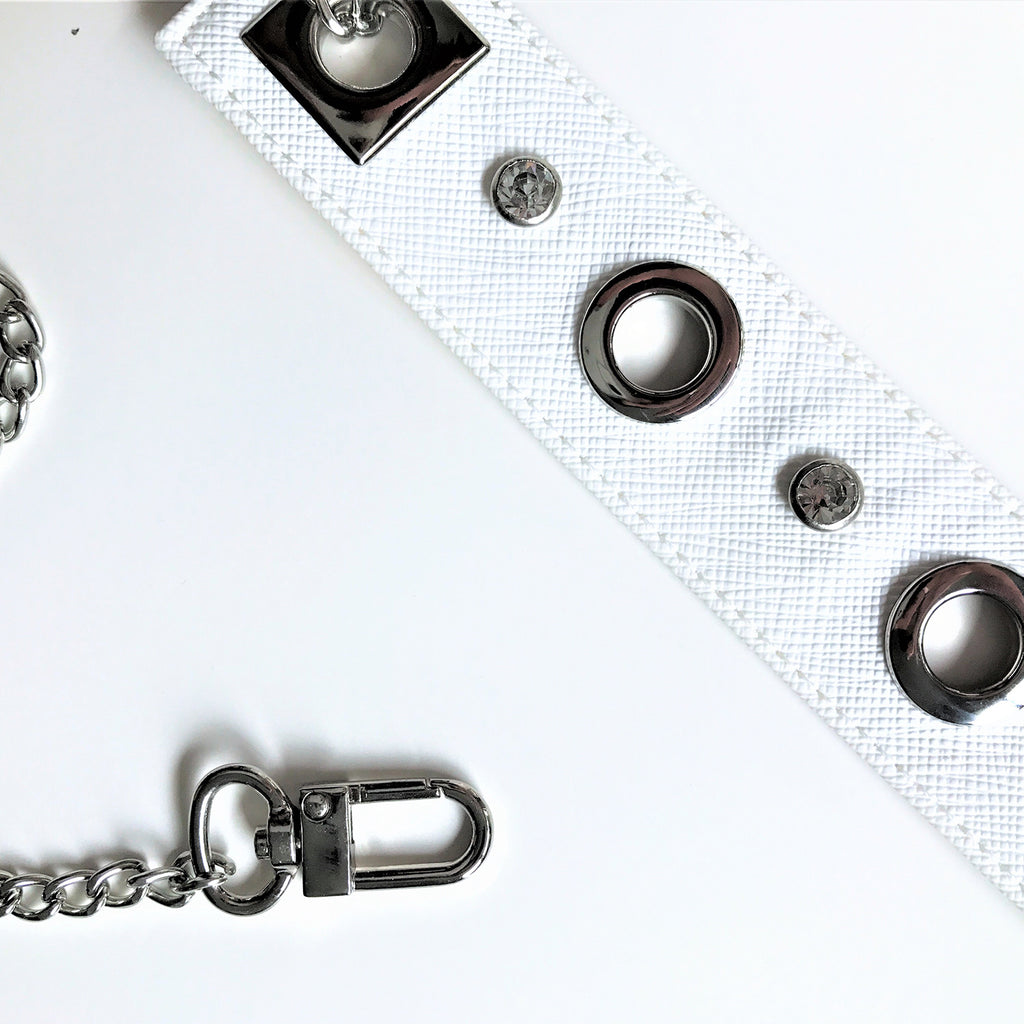 Clutch chain - White