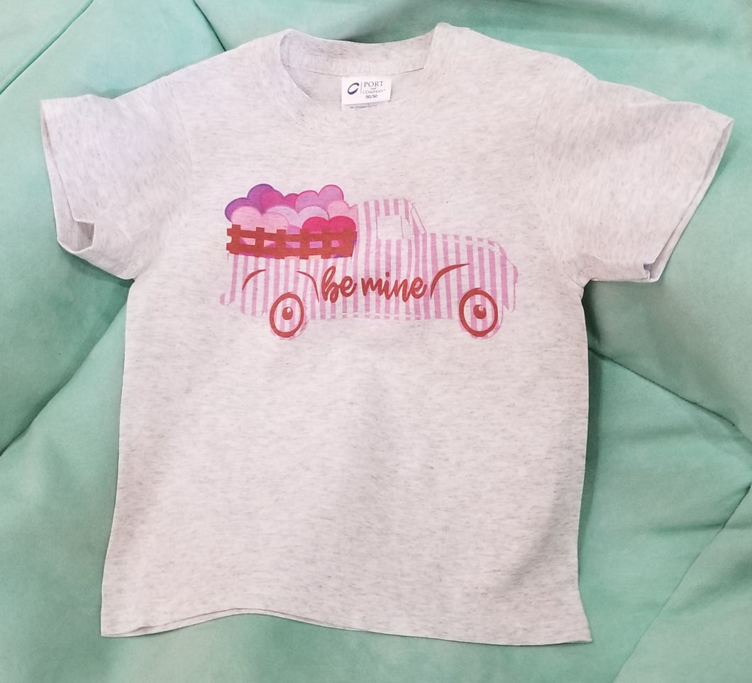 Be Mine Truck Kids Tee