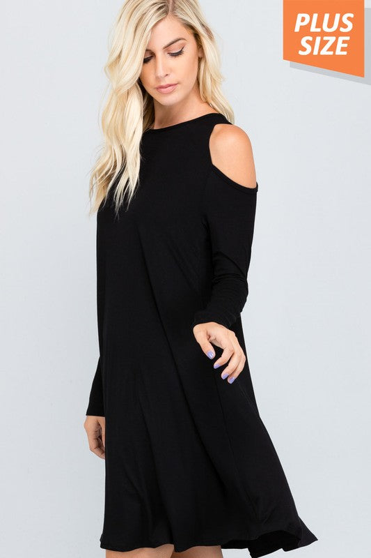 Long Sleeve Cold Shoulder Dress