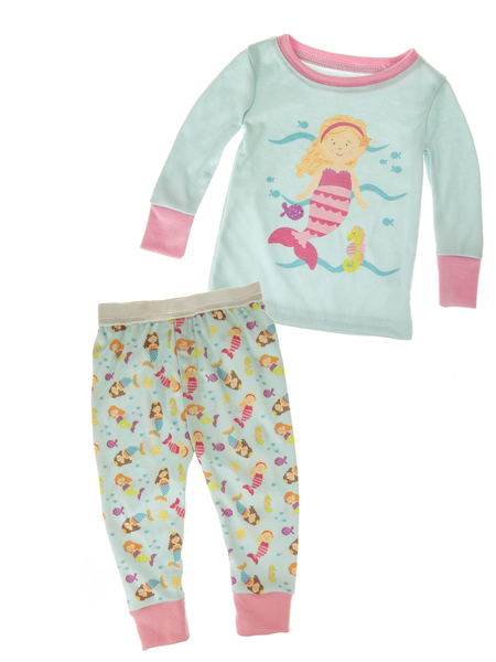 2 Piece Mermaid PJ Set/Size 9-12 Mo.