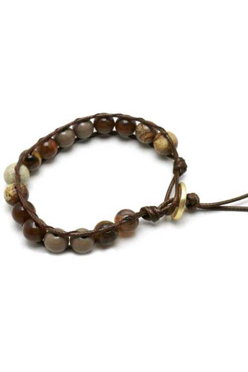 Natural Stone Mix Corded Bracelet