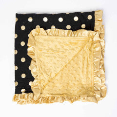 Minky Blanket Black/Gold