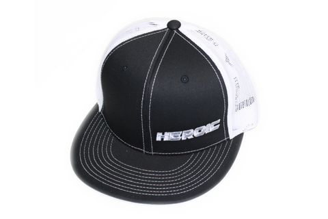 FLAT BILL - HEROIC TEXT - BLACK