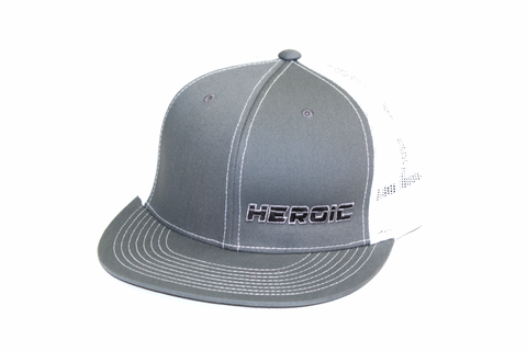 FLAT BILL - HEROIC TEXT - GRAY