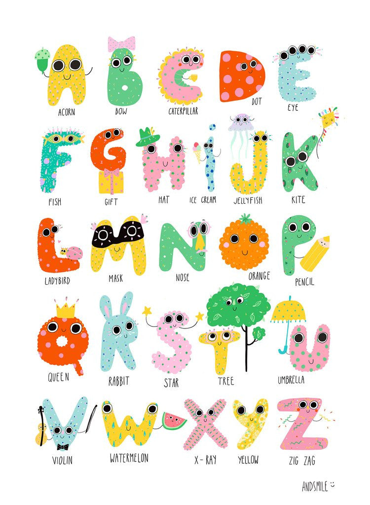 The gifted online funky alphabet print cute alphabet altavistaventures Image collections