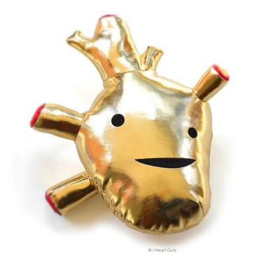 Gold Heart Plush