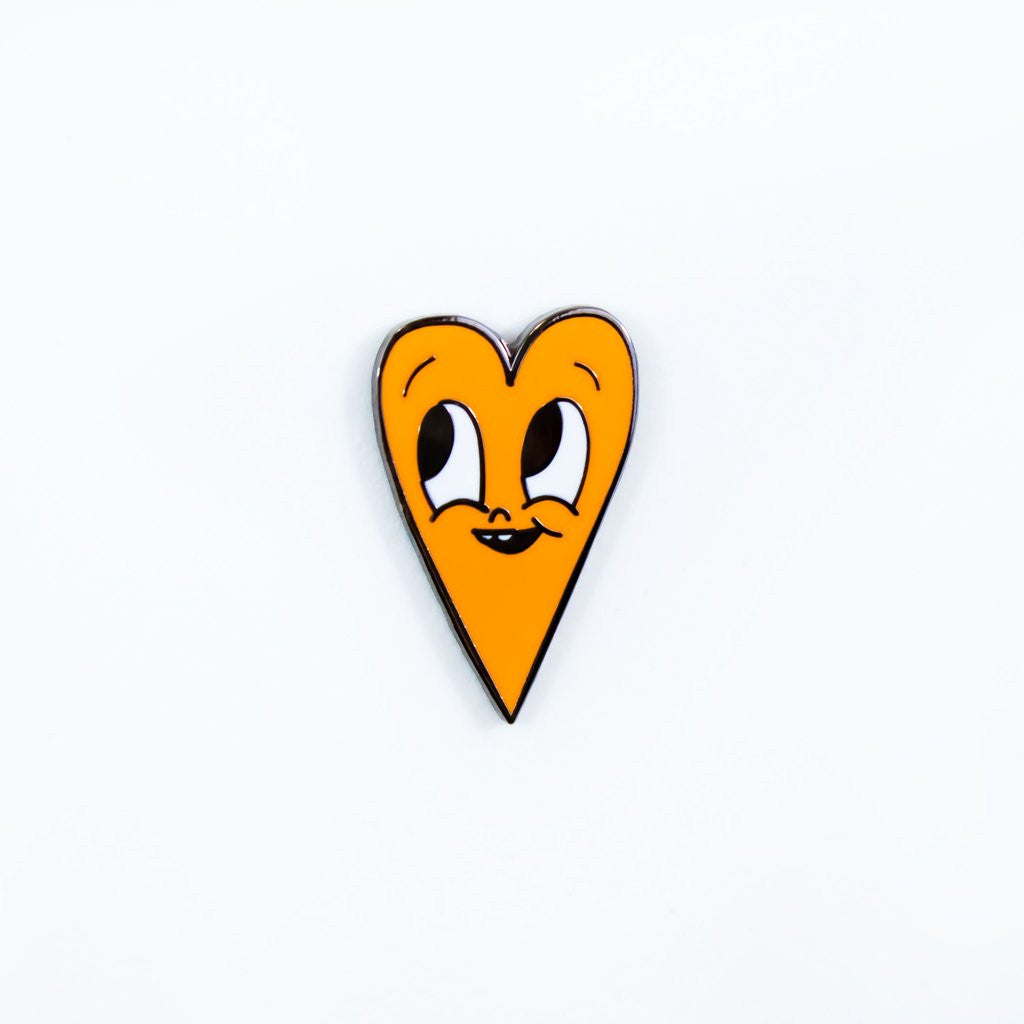 Orange Heart Pin