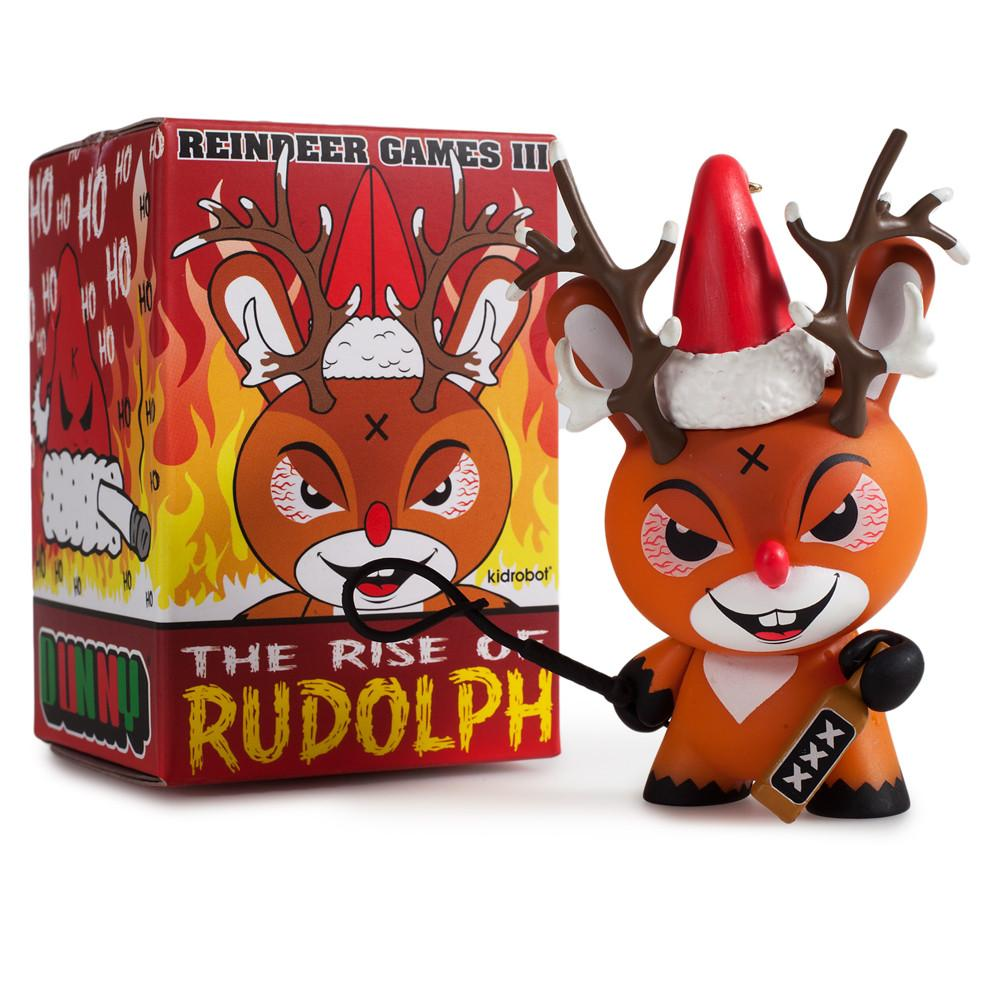 Rise of Rudolph Christmas Dunny by Kozik x Kidrobot