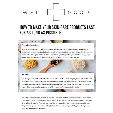 make your skin-care products last for as long as possible