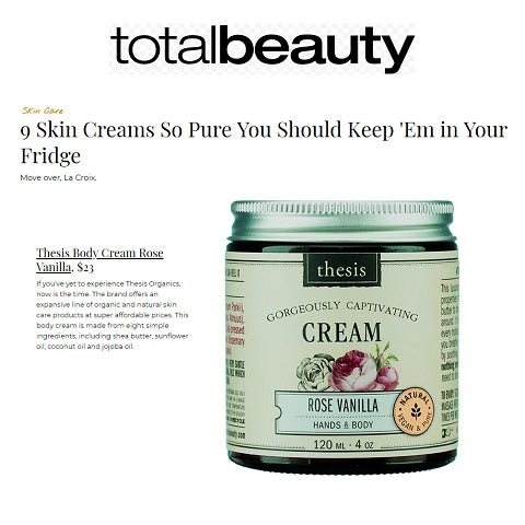 organic and natural skin care products at super affordable prices. This body cream is made from eight simple ingredients
