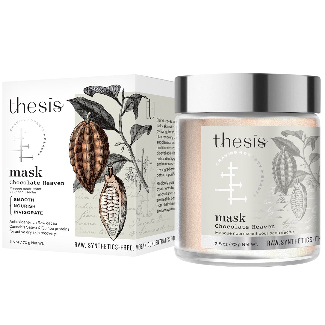 Thesis Organic All Natural Facial Mask for Dry, Mature Skin - Nourishing, Skin Smoothing - Chocolate Heaven