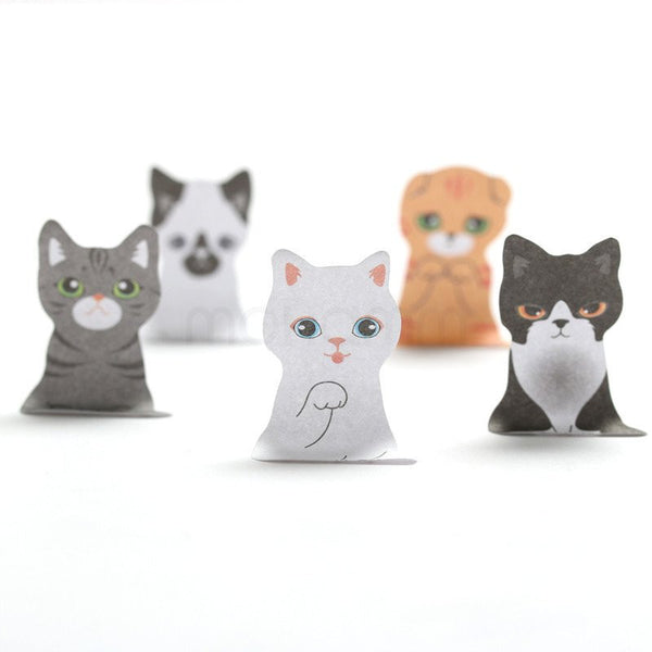 3D Cartoon Pussy Cat Stickies