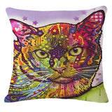 Colorful Pussy Cat Throw Pillows