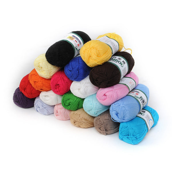 Natural Bamboo and Cotton Fingering Yarn--20 Colors to choose from