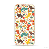 Colorful print Cat iPhone Case
